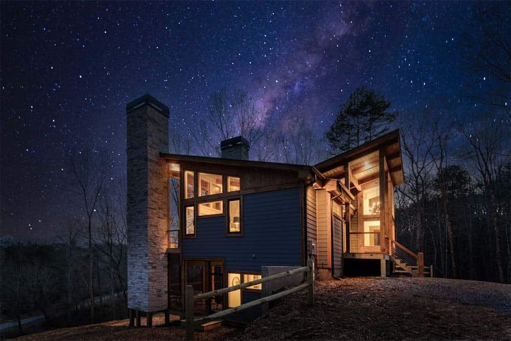 georgia modern cabin airbnb
