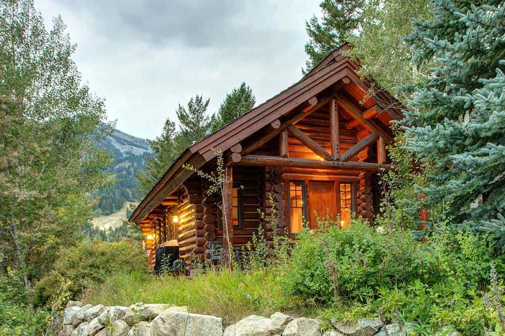 log cabin airbnb jackson hole