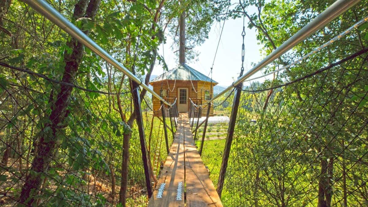 oregon treehouse glamping