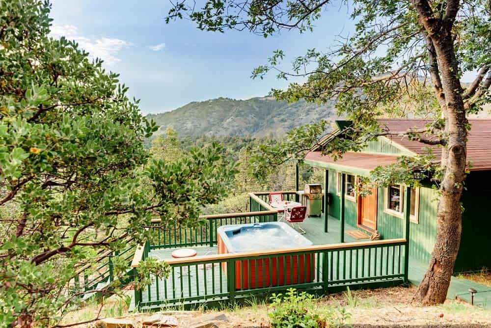 secluded california cabin rental with hot tub