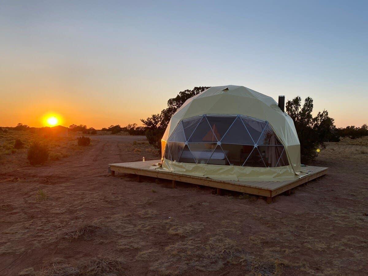 unique airbnb dome arizona