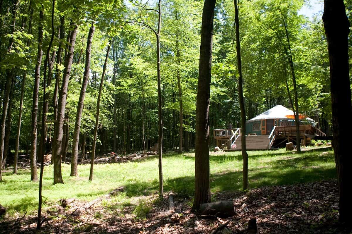 upstate new york glamping yurt