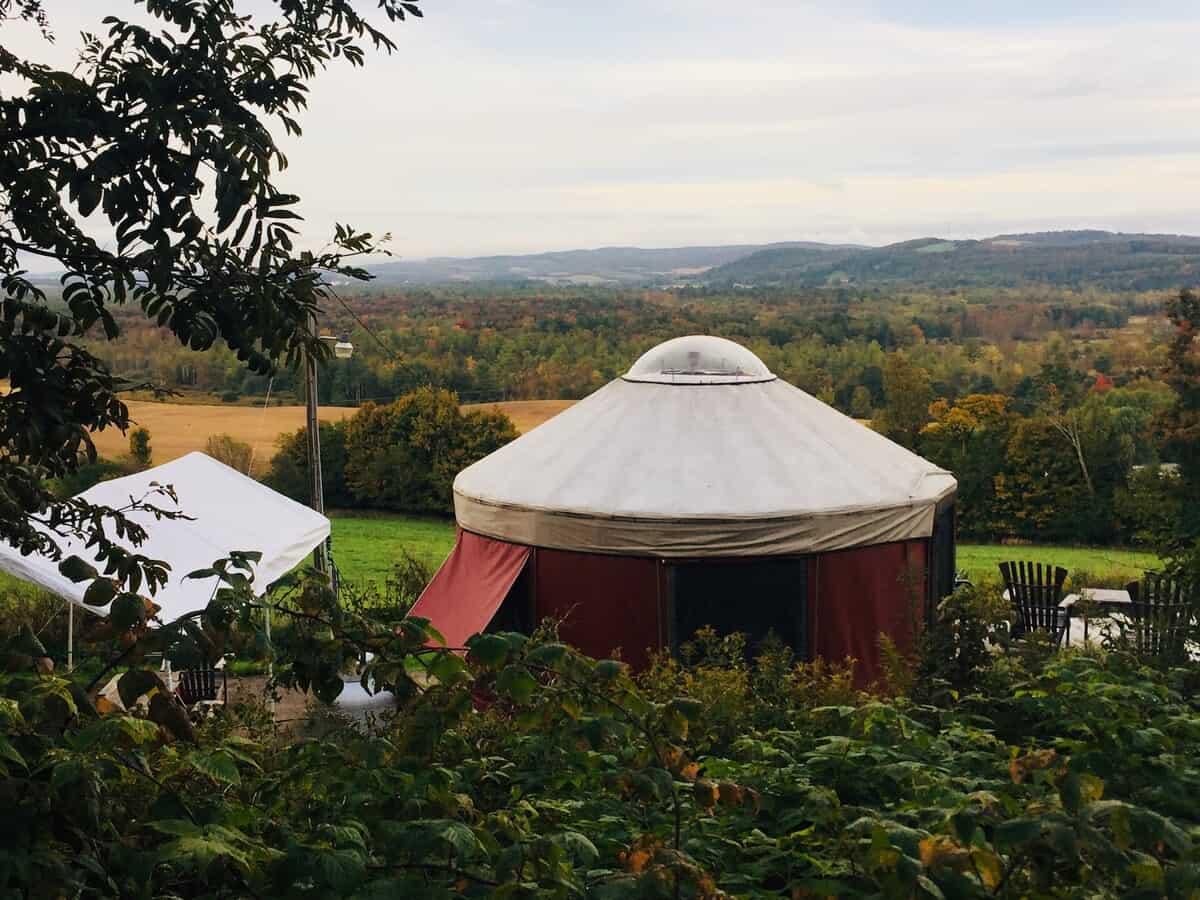 waterville yurt rental new york