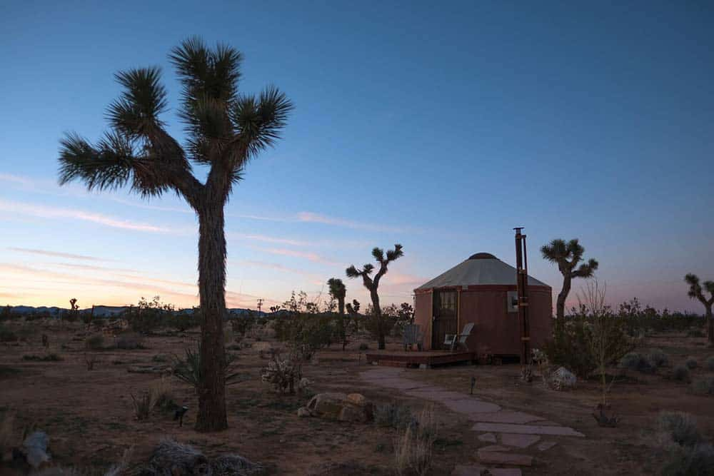 california yurt rental joshua tree