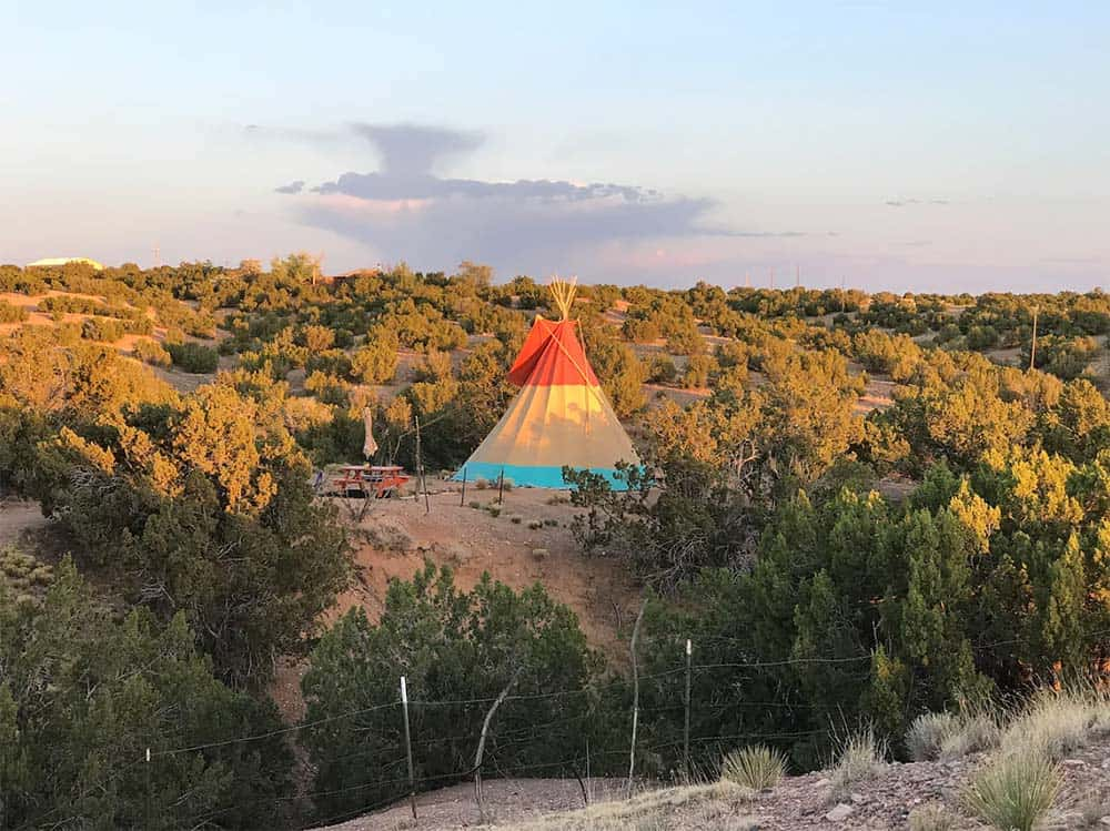 glamping tipi new mexico