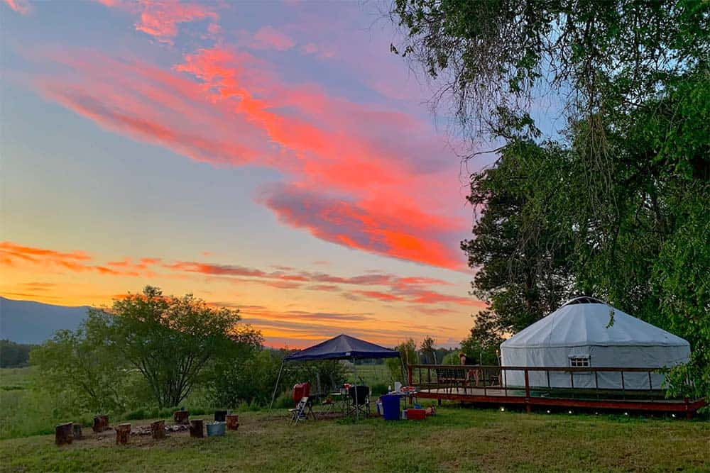 lewis and clark glamping yurt