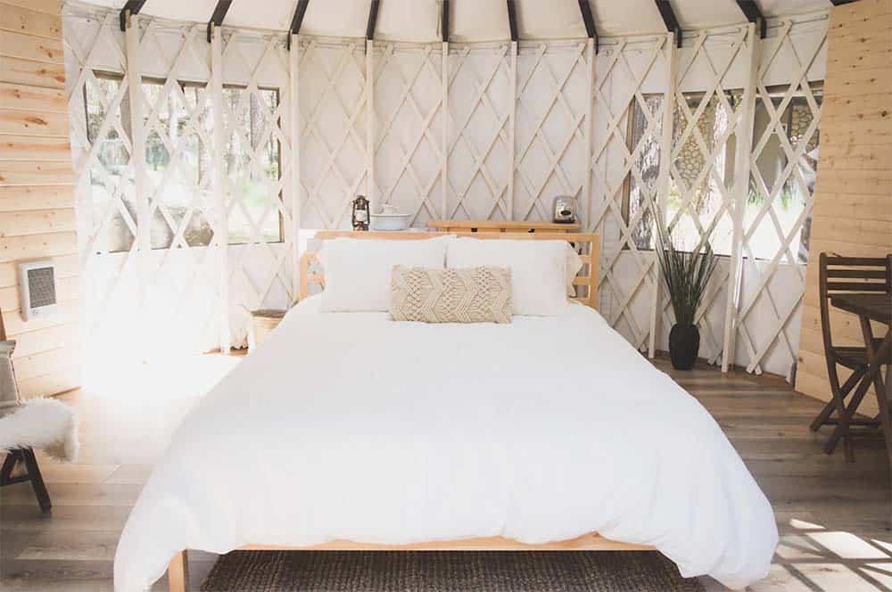 luxury yurt rental california