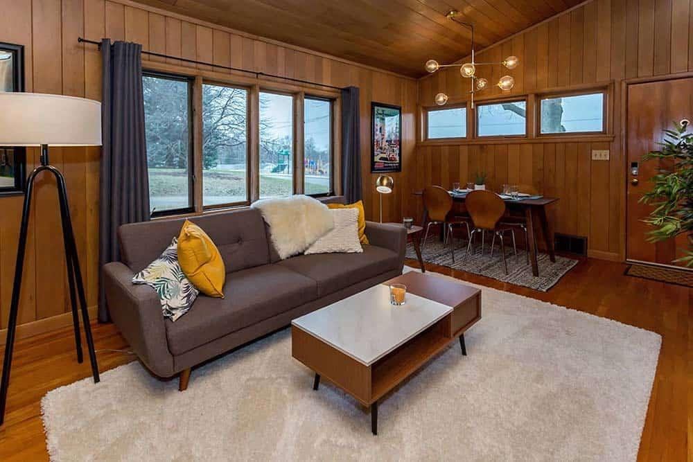 midcentury bungalow airbnb iowa