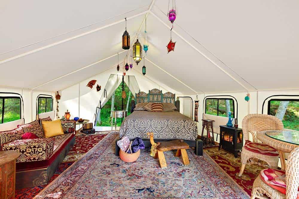 morrocan wall tent glamping