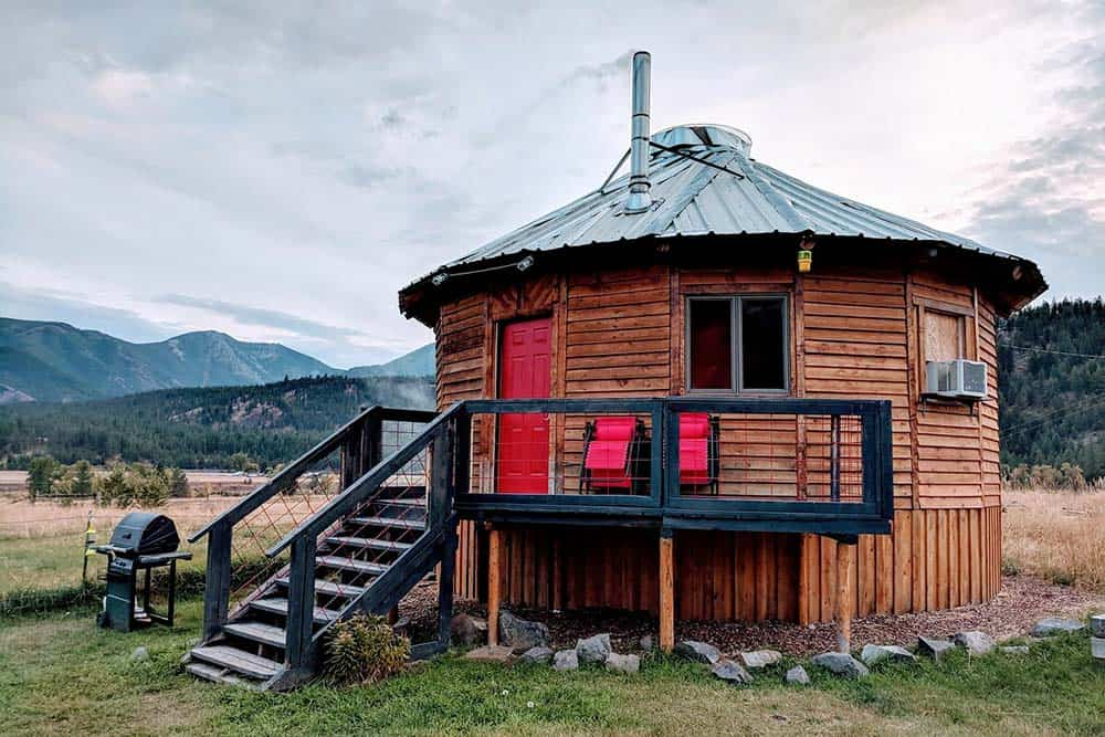 northern montana yurt