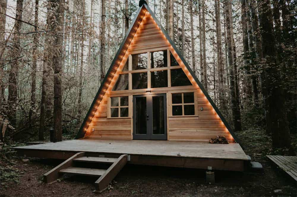 pet friendly a frame cabin wa