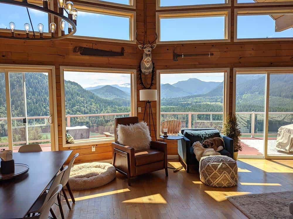 rainier views cabin rental