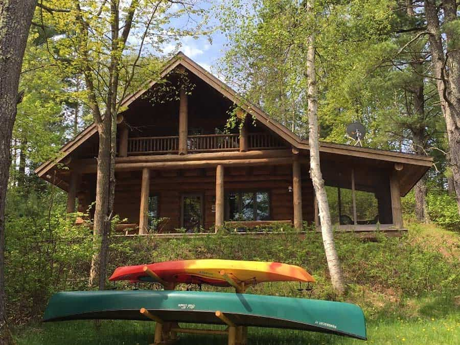 secluded wisconsin cabin rental