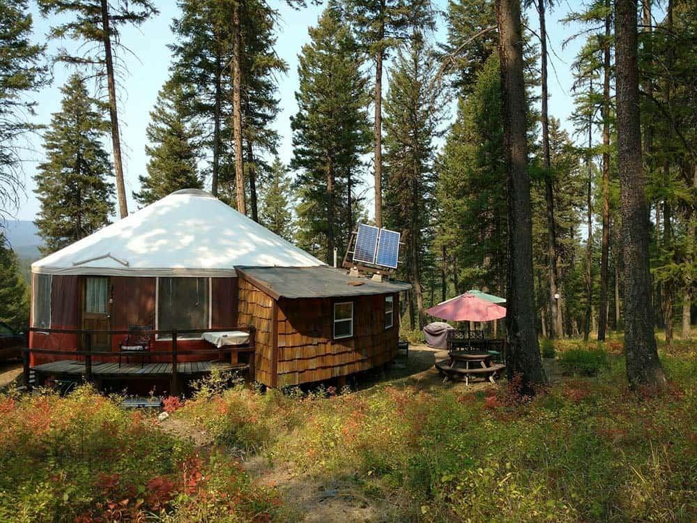 solar yurt montana