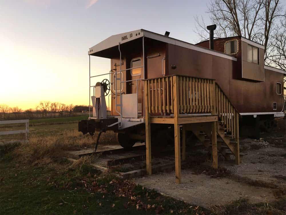 train caboose airbnb iowa