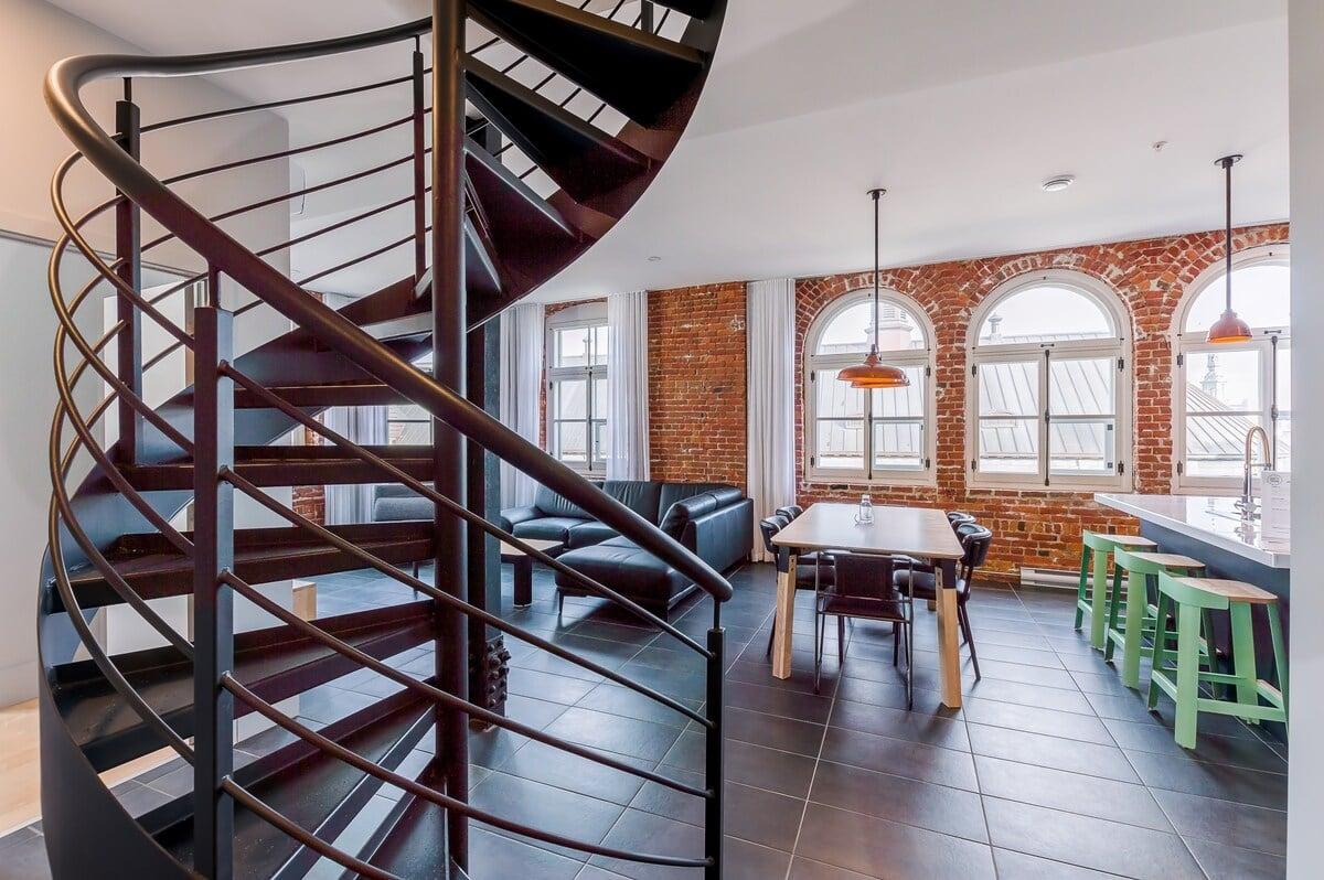 Old Québec loft airbnb