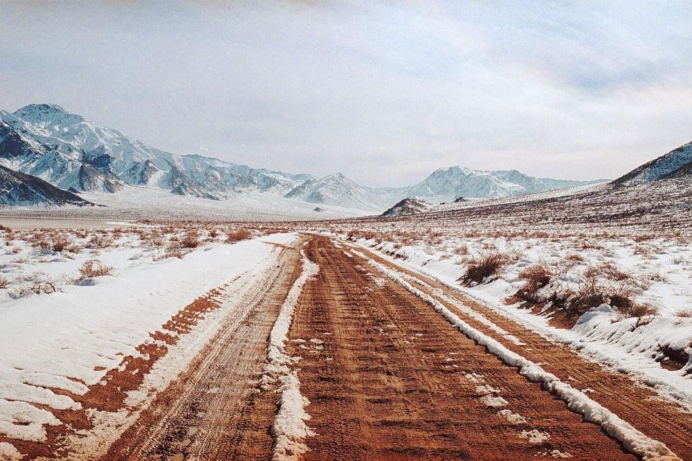 death valley winter road