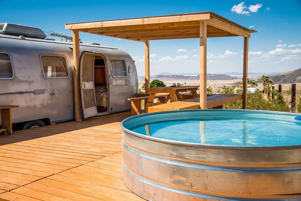 joshua tree glamping trailer