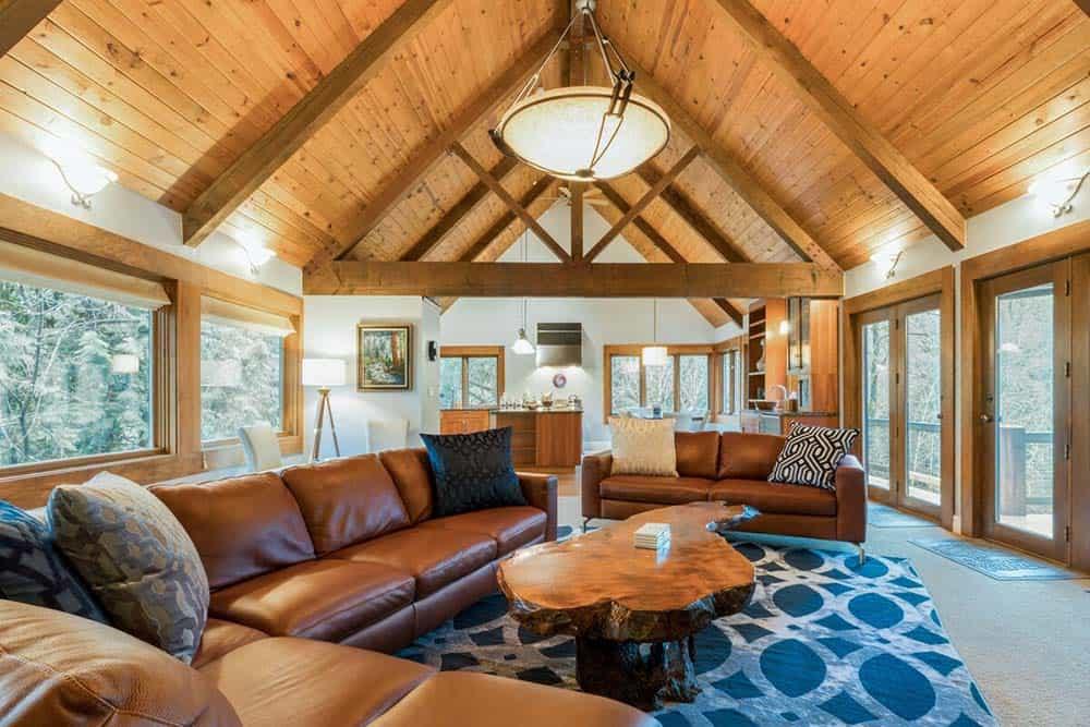 modern cabin airbnb washington