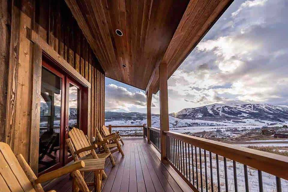 porch view airbnb crested butte