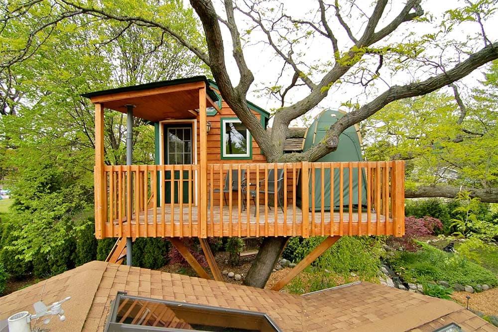 treehouse airbnb illinois