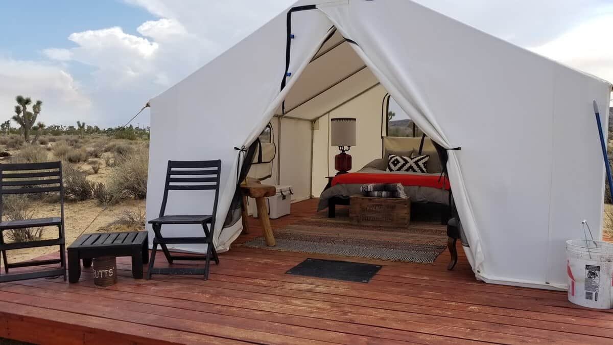 yucca valley glamping tent