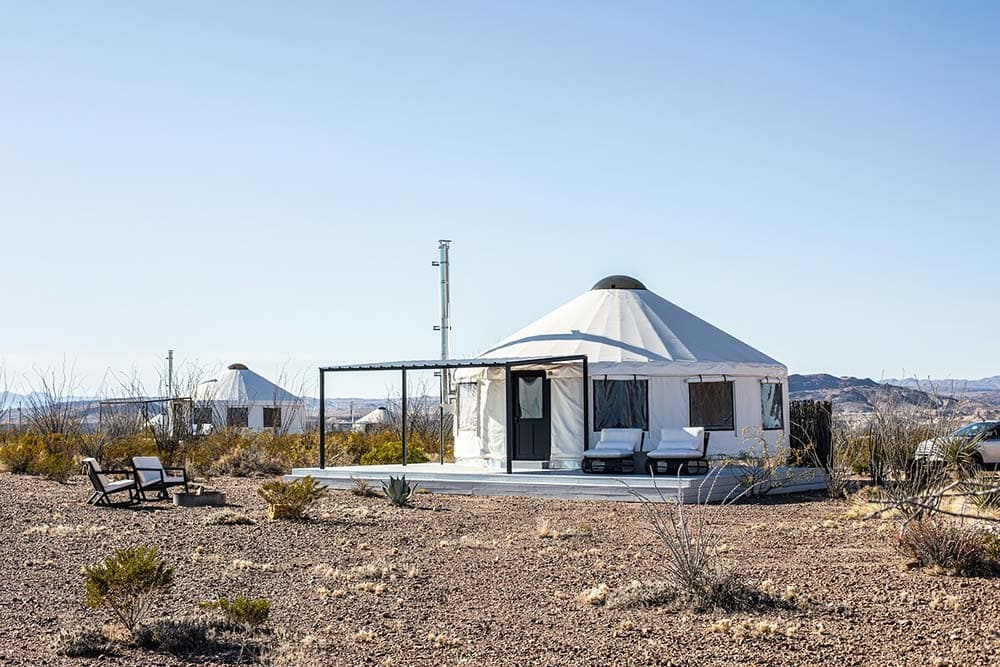 yurt airbnb big bend national park