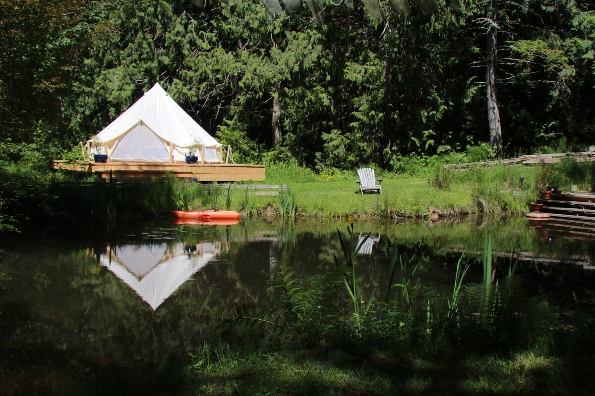 Glamping by the Pond on Salt Spring Island BC