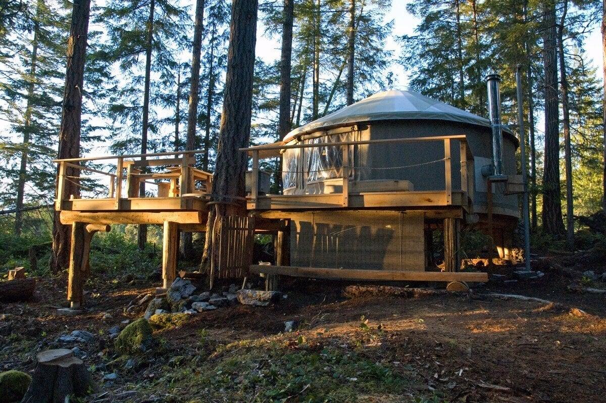 PADMA Yurt on Cortes Island BC