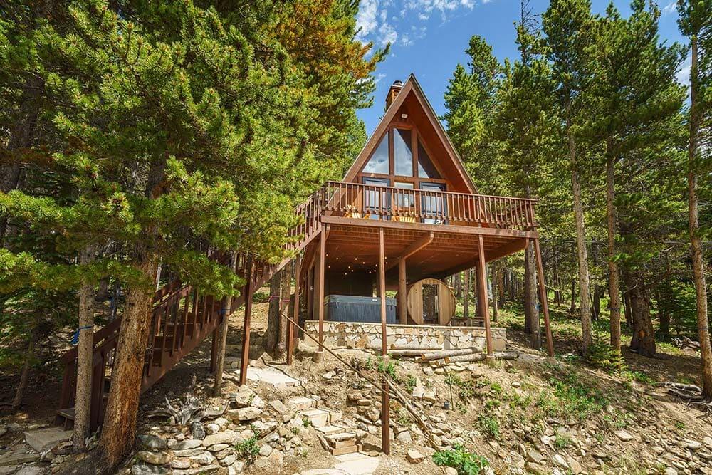 aframe cabin airbnb colorado