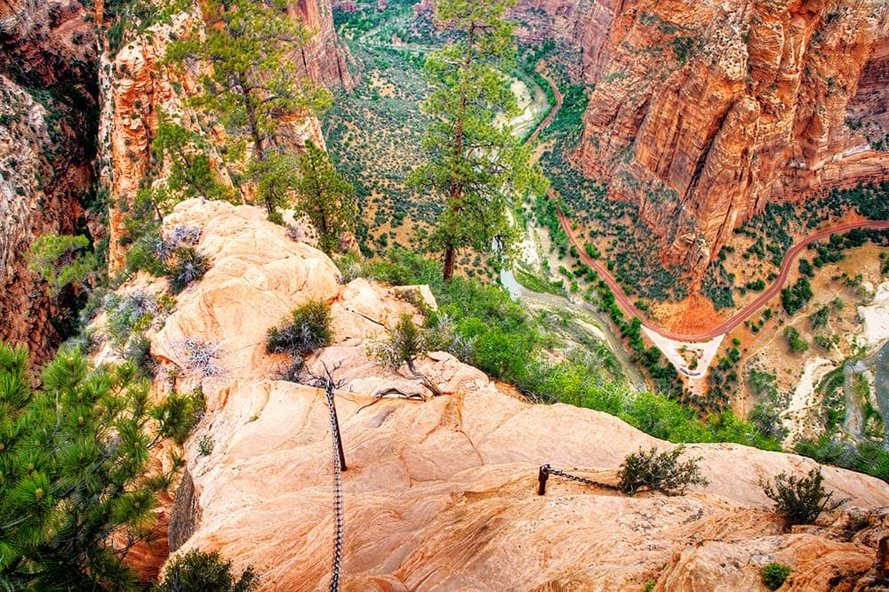 angels landing trail zion