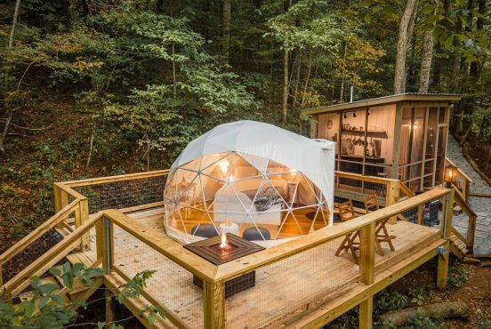 best glamping spots north carolina