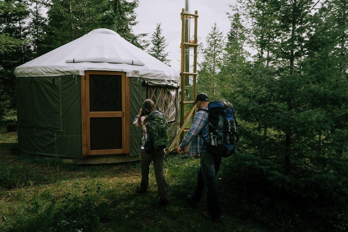 british columbia yurt glamping