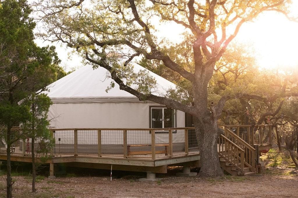 eco luxury yurt texas