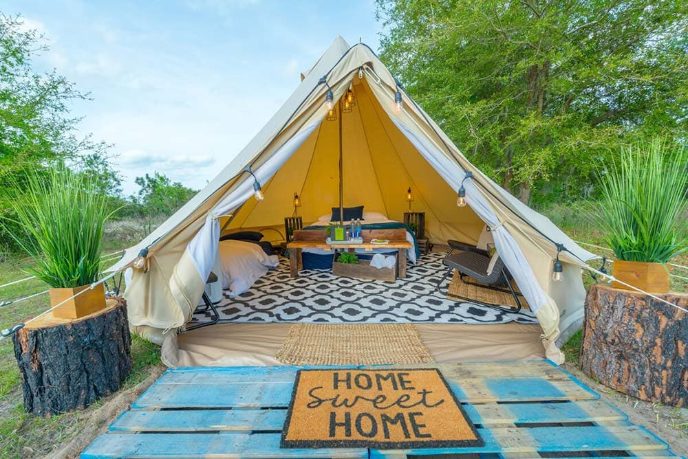 florida glamping tent airbnb