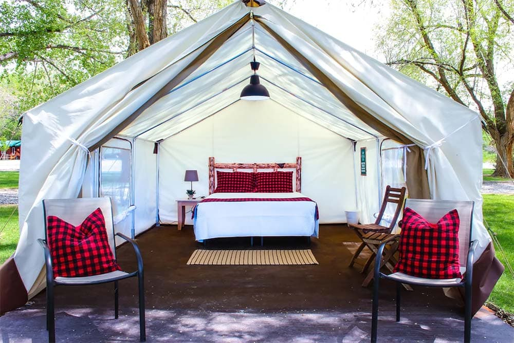 glamping tent airbnb wyoming