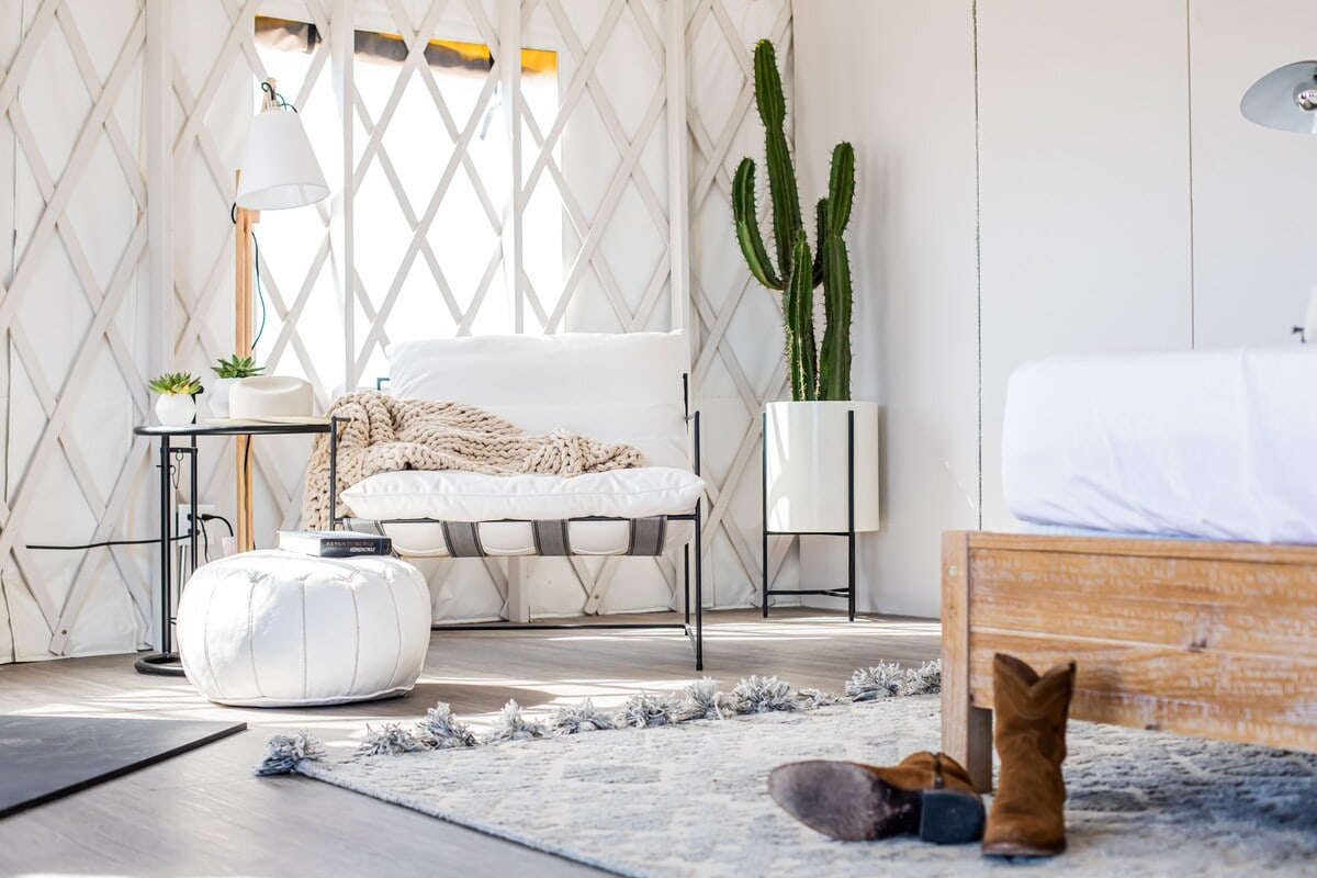 luxury yurt glamping texas