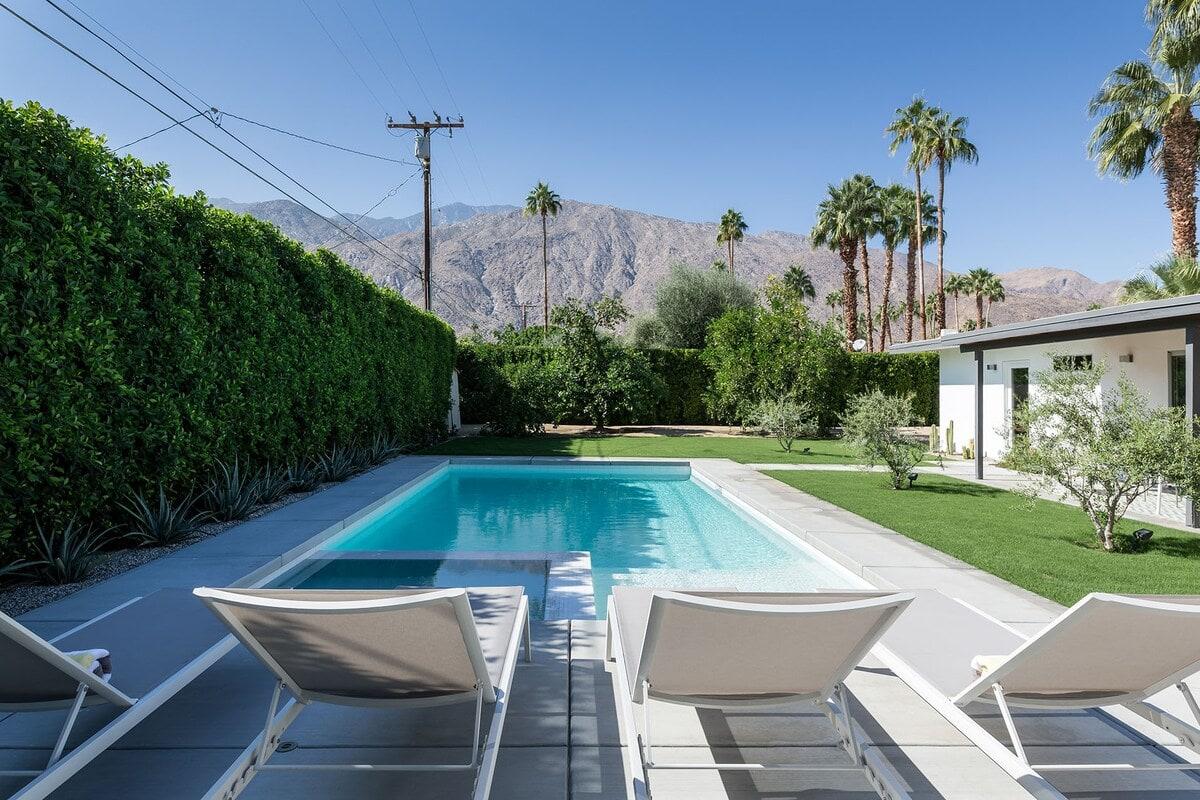midcentury palm springs airbnb pool