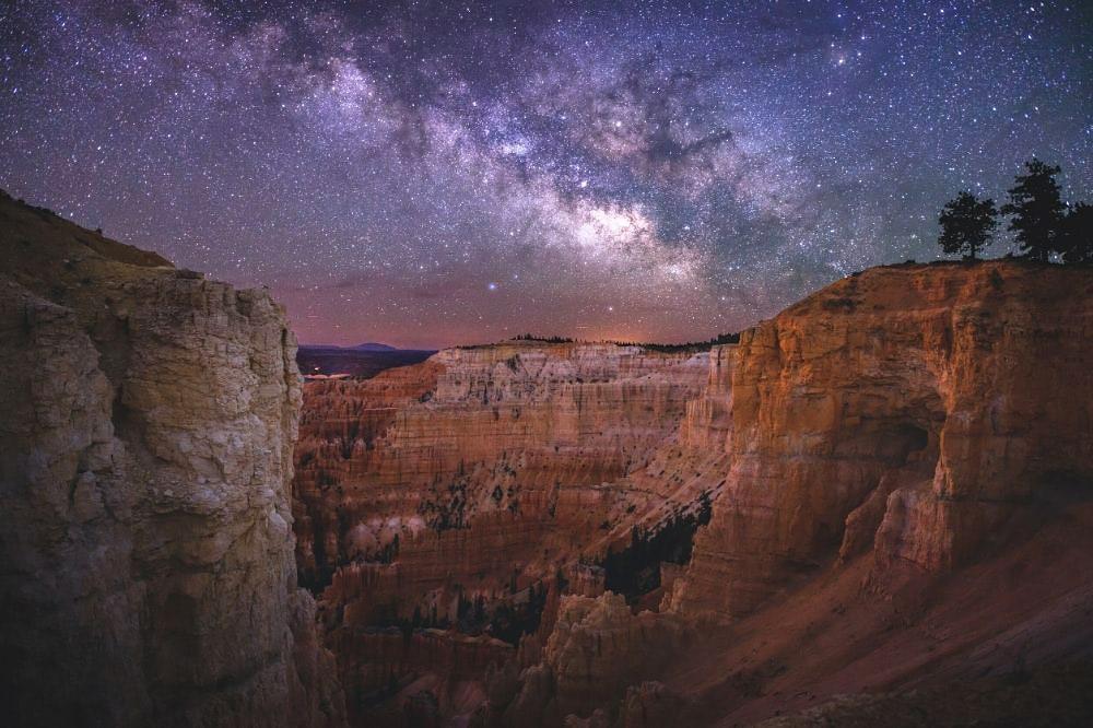 milky way bryce canyon