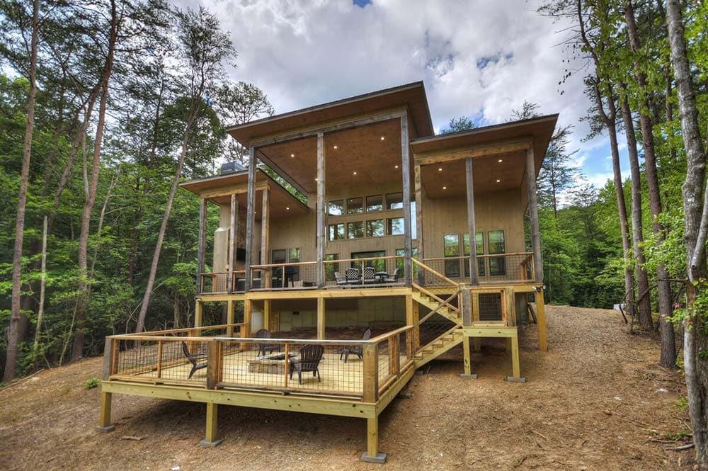 modern secluded cabin georgia
