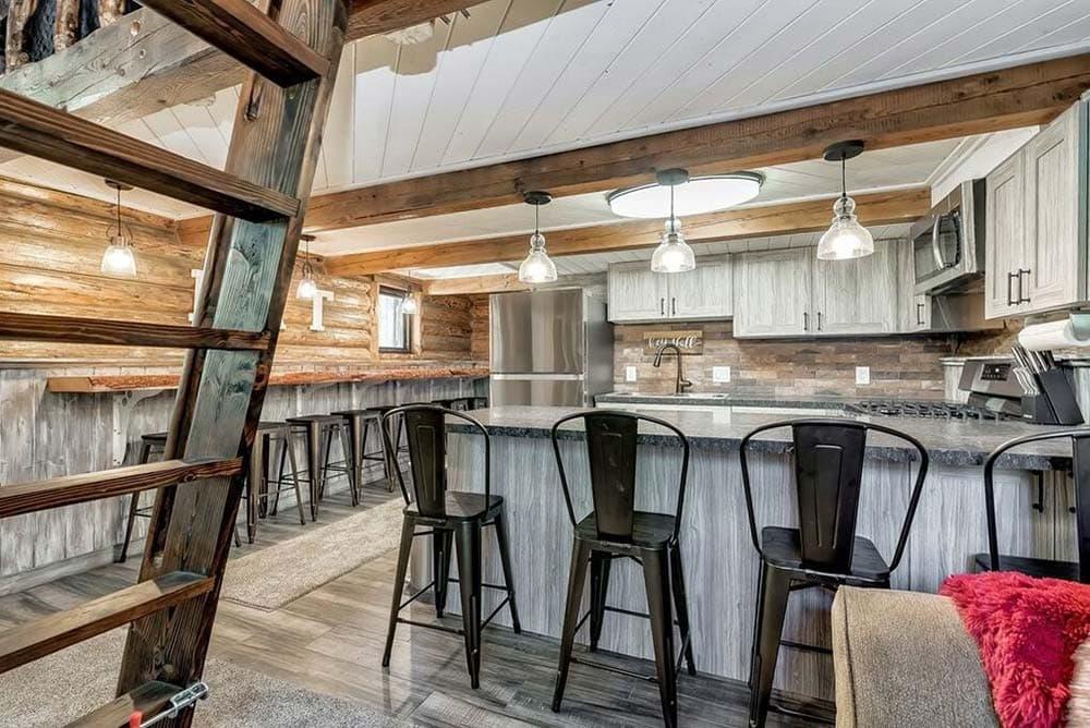 rustic modern cabin idaho