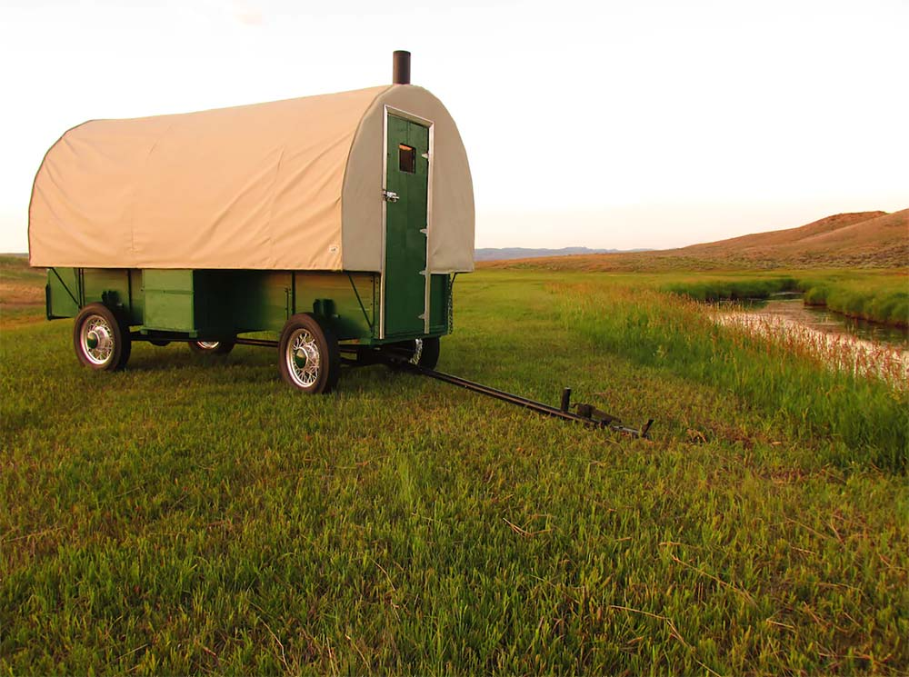 wyoming glamping wagon