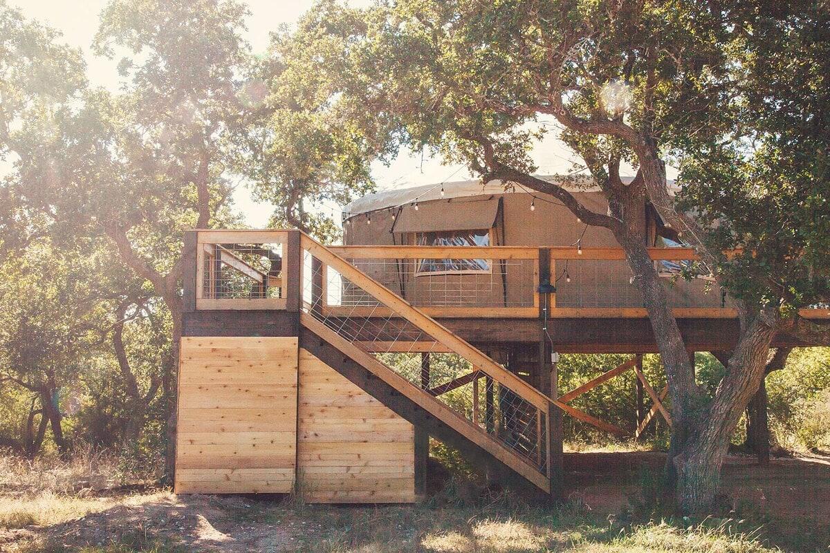 yurt glamping texas