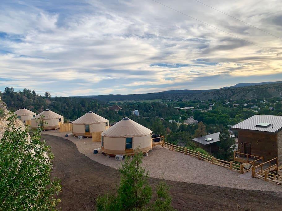 Yurt Overlook at East Zion Resort