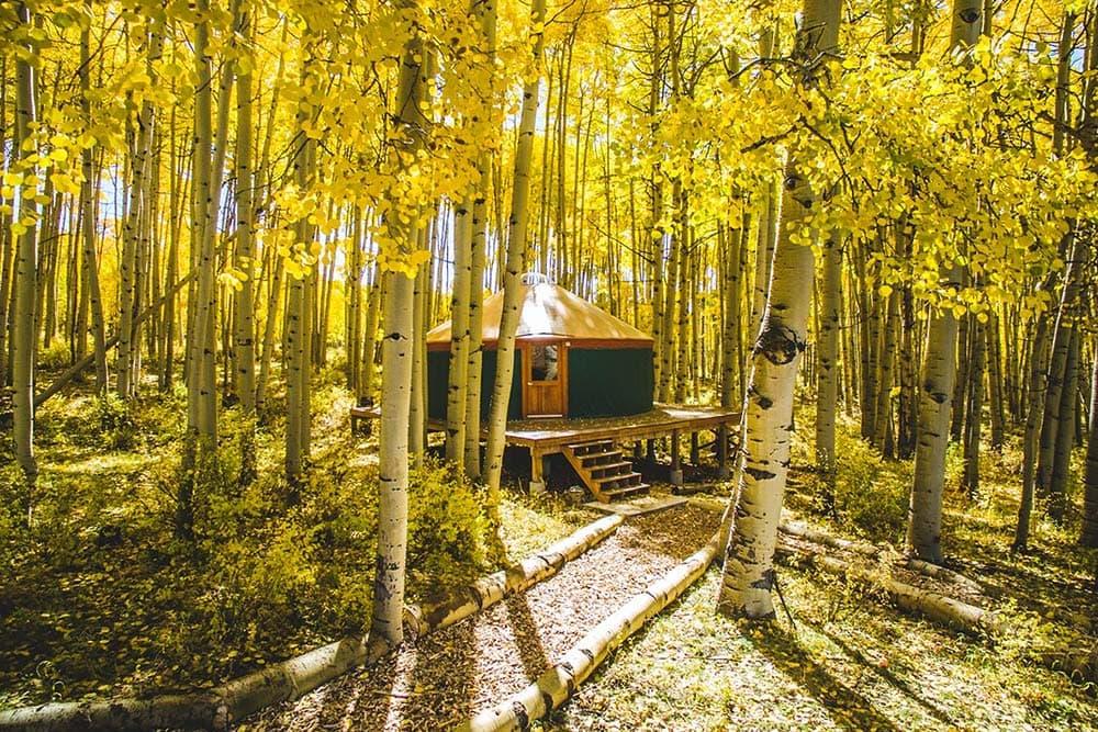 colorado yurt glamping