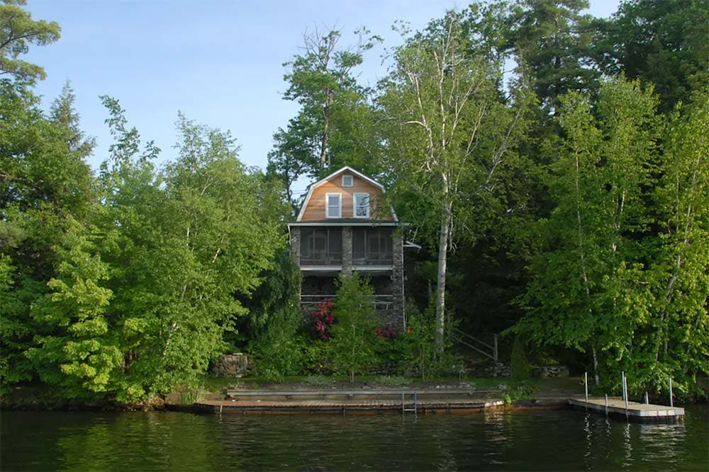 lakefront secluded cabin new york