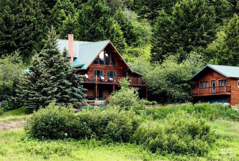 log cabin vacation rental bozeman