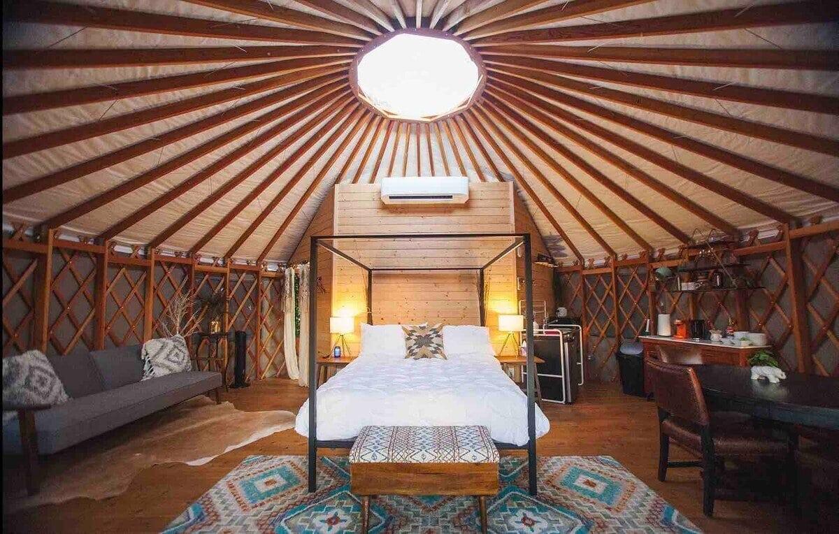 yurt near austin tx
