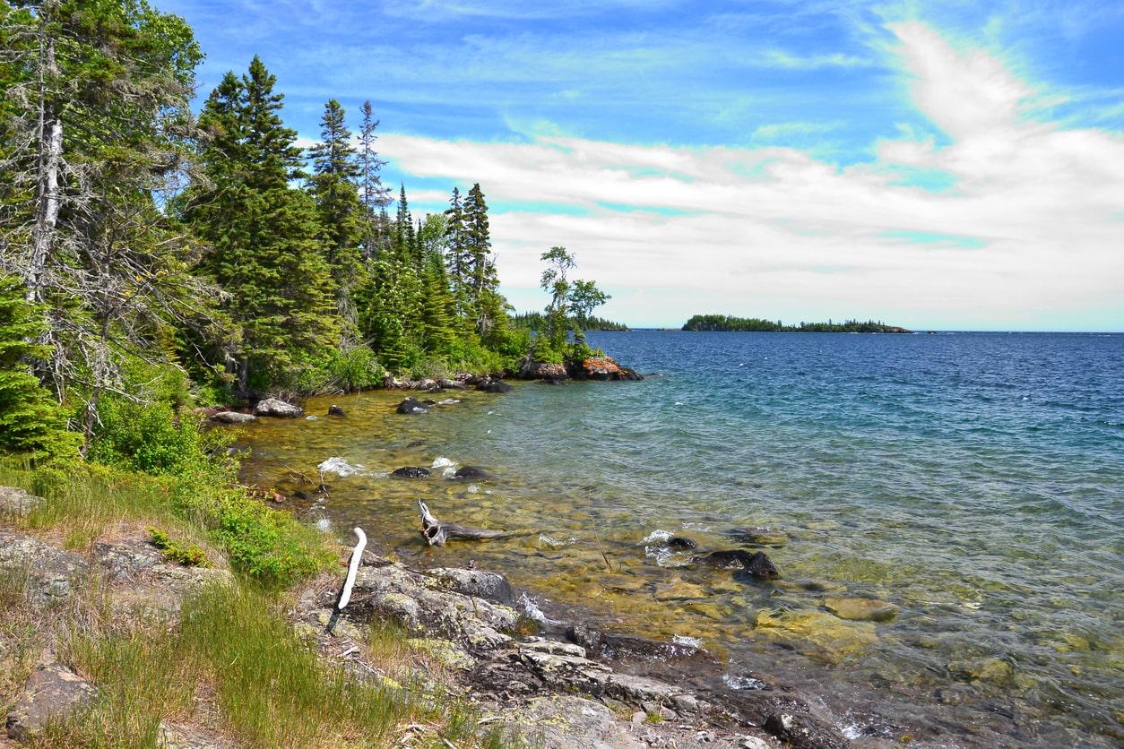 Isle Royale National Park coastline