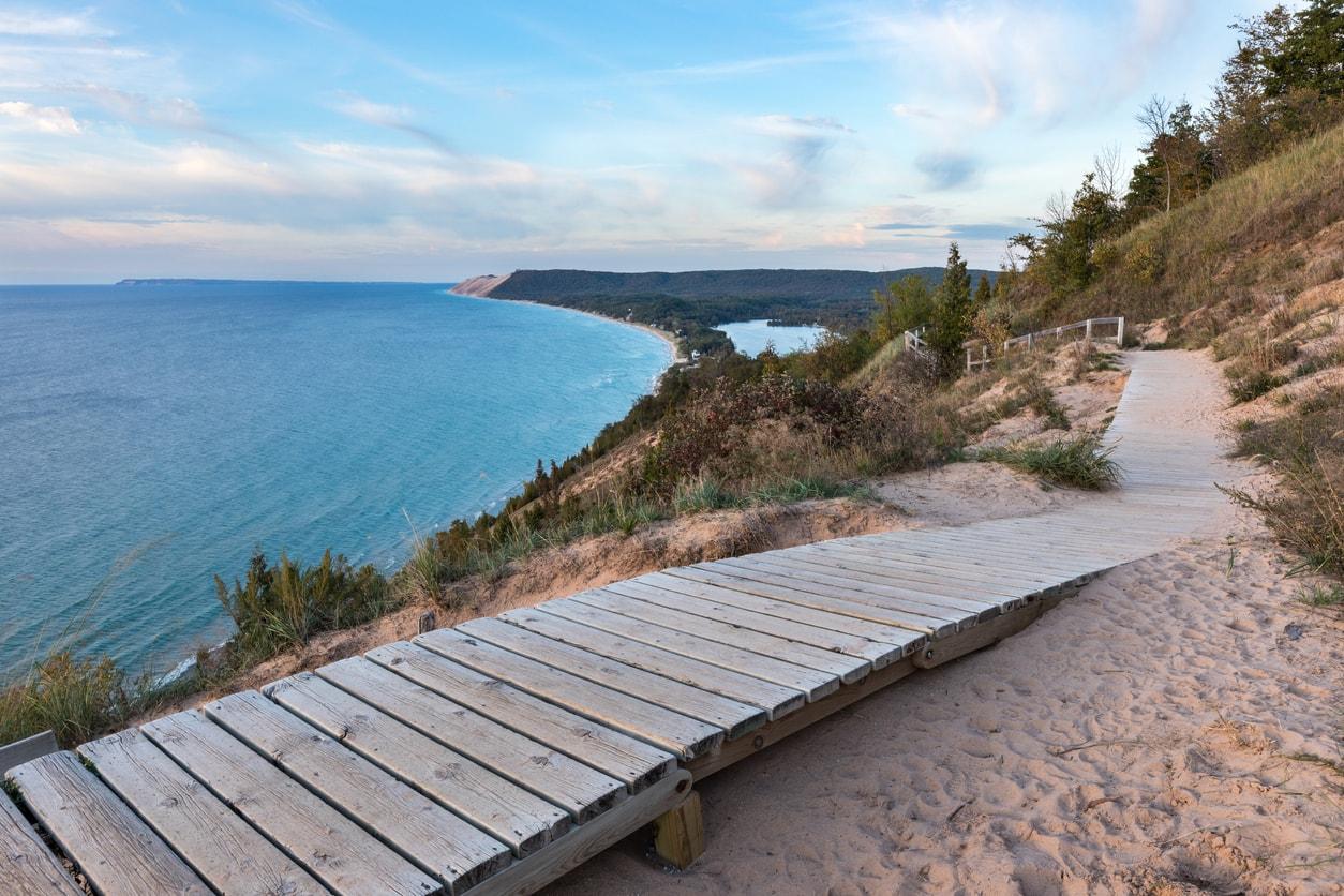 Sleeping Bear Dunes in Michigan
